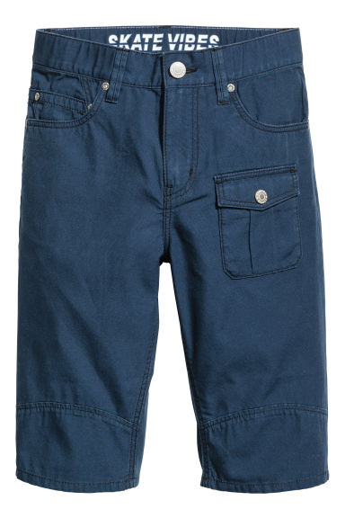 Cotton clamdiggers - Dark blue -  | H&M