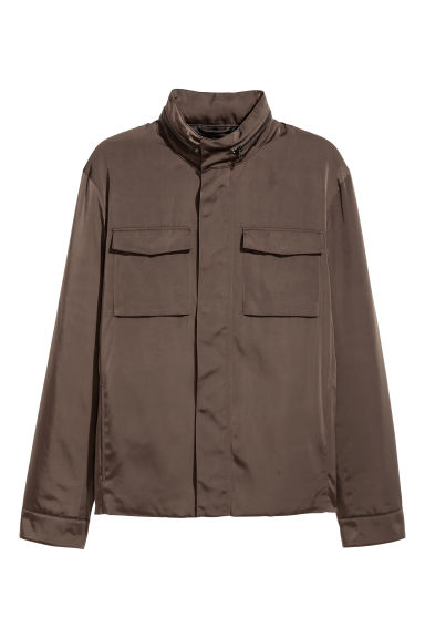 Short jacket - Dark khaki green -  | H&M