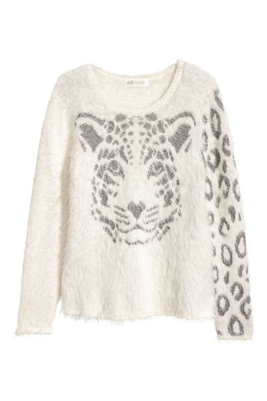 Knitted jumper - White -  | H&M CN