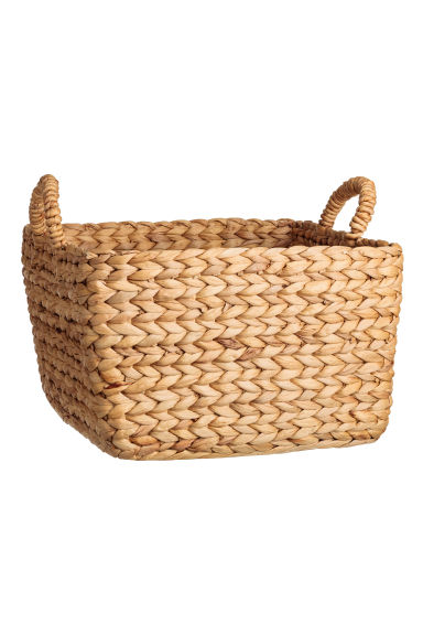 Large water hyacinth basket - Natural - Home All | H&M IE