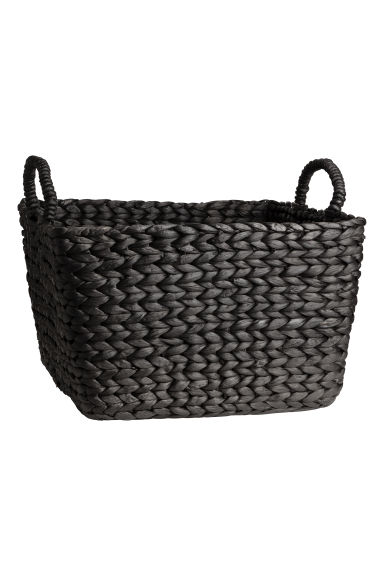 Large water hyacinth basket - Anthracite grey -  | H&M IE