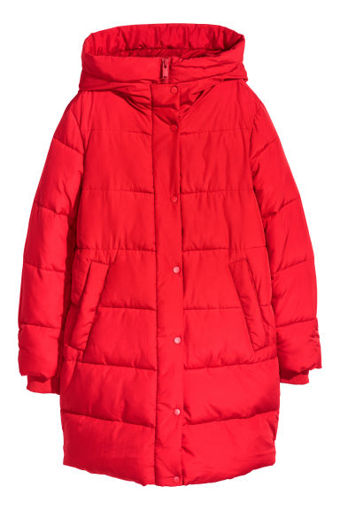 Padded parka - Red - Ladies | H&M CN