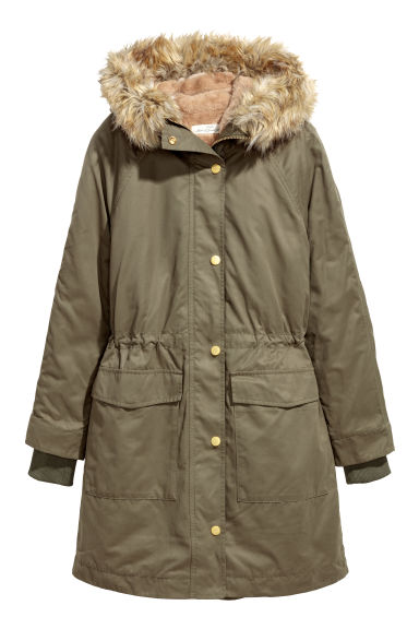 Parka with an inner jacket - Khaki green -  | H&M CN
