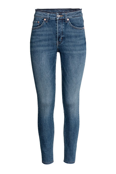 Skinny High Ankle Jeans - ダークデニムブルー - Ladies | H&M JP