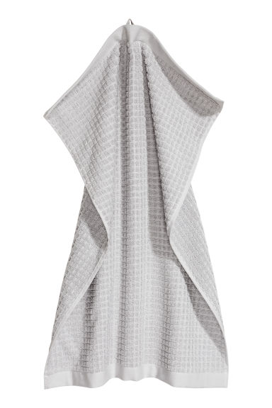 Check-weave hand towel - Light grey - Home All | H&M IE