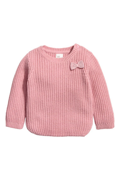 Ribbed jumper - Vintage pink - Kids | H&M