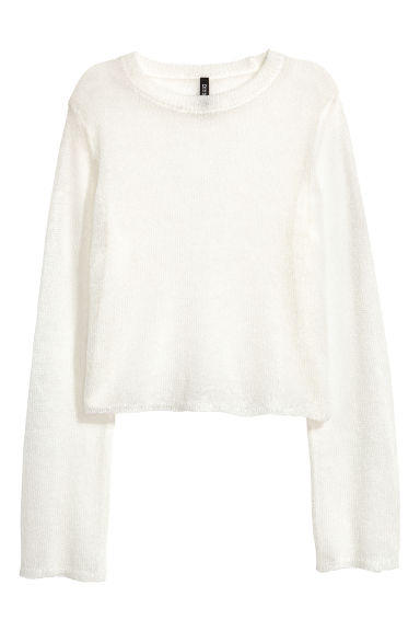 Loose-knit jumper - White - Ladies | H&M