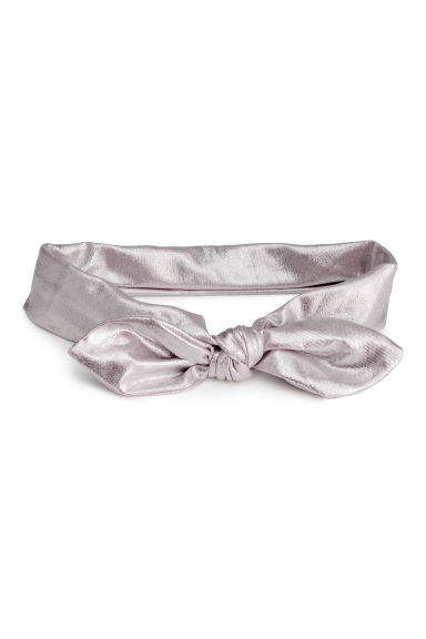 Hairband with a knot detail - Silver - Kids | H&M CN