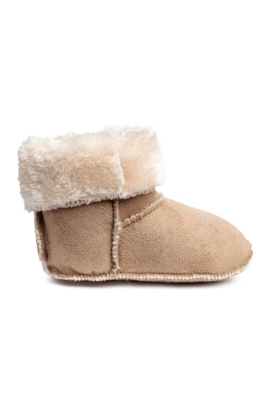 Bottines doublées peluche - Beige -  | H&M BE