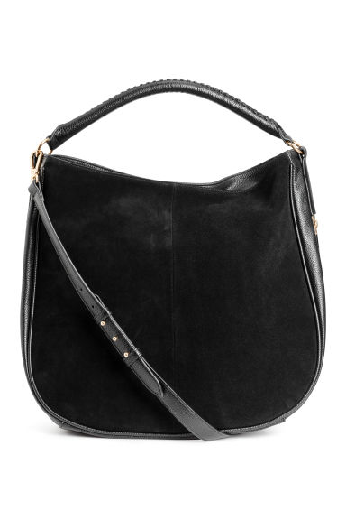 Hobo bag with suede details - Black - Ladies | H&M