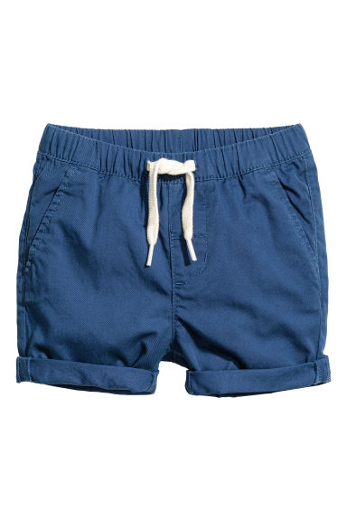 Cotton shorts - Dark blue -  | H&M