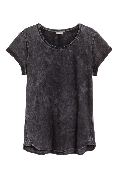 Slub jersey T-shirt - Dark grey - Men | H&M CN
