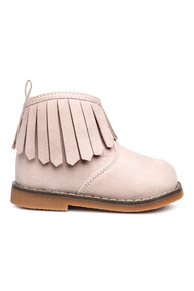 Boots with a zip - Pink -  | H&M