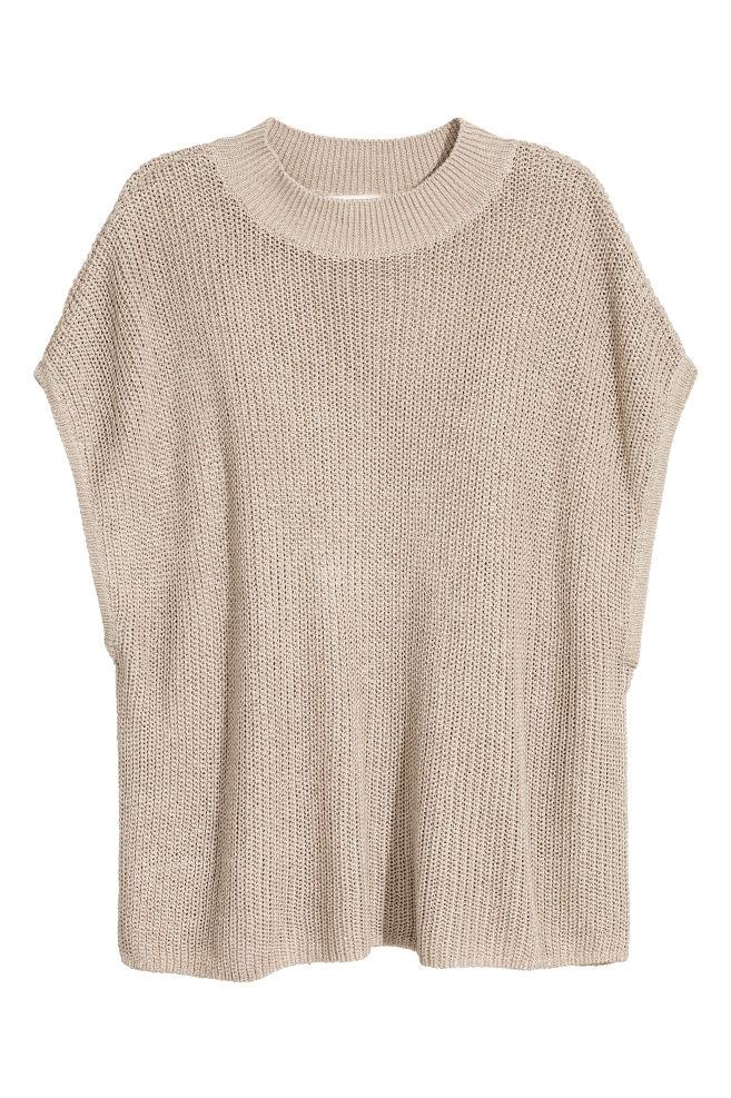 261314a8f Pletené tričko - svetlobéžová - ŽENY | H&M ...
