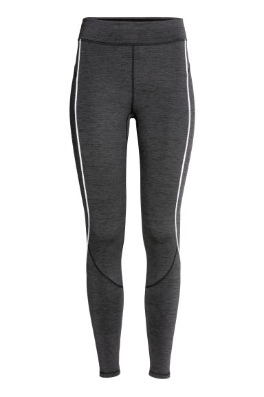 Winter running tights - Dark grey marl - Ladies | H&M CN
