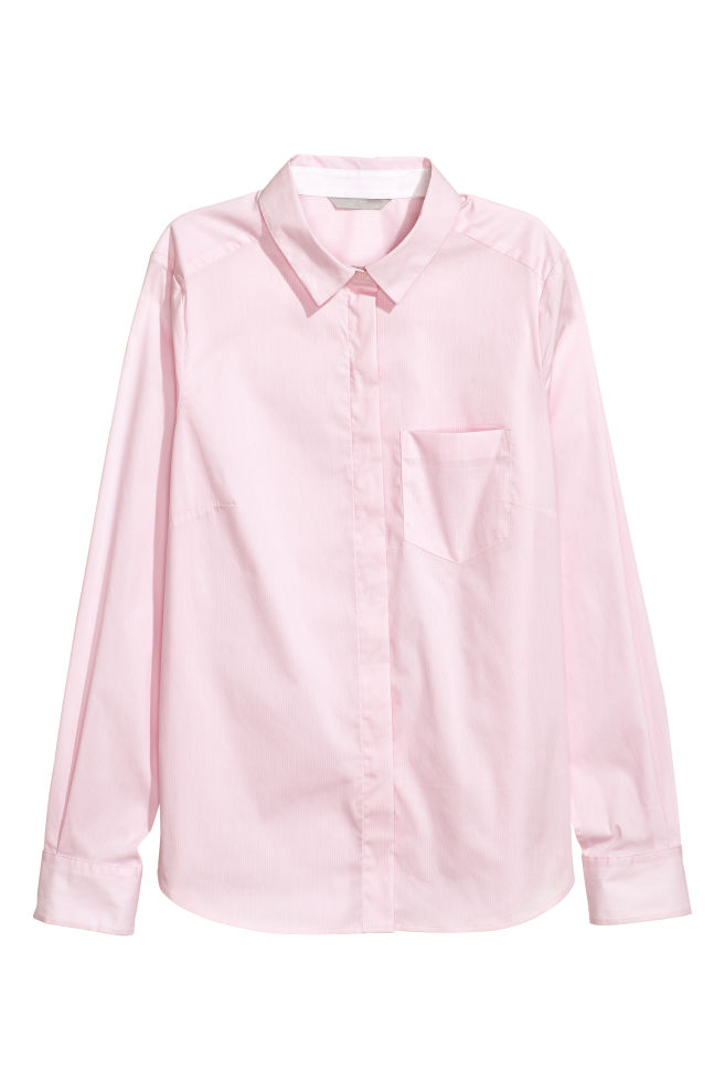3c05254d Fitted Shirt - Pink - Ladies | H&M ...