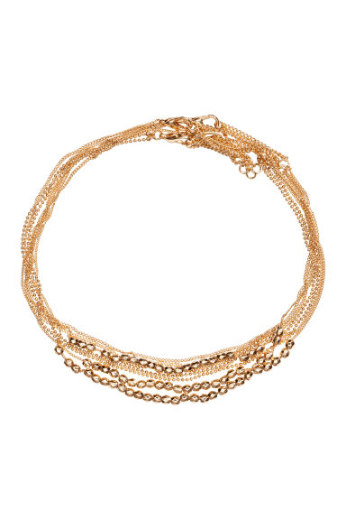 4-pack chokers - Gold-coloured -  | H&M