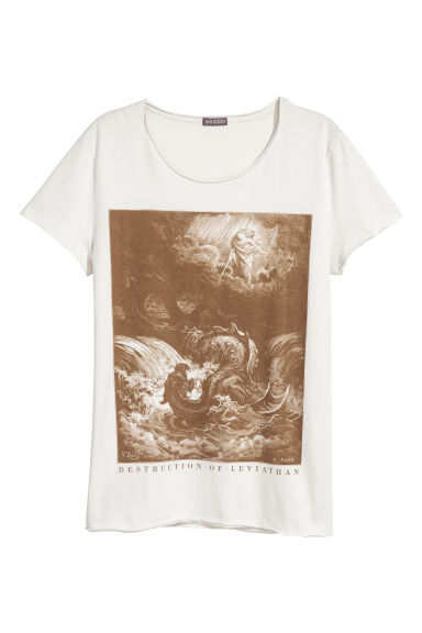 T-shirt with a print - White - Men | H&M CN