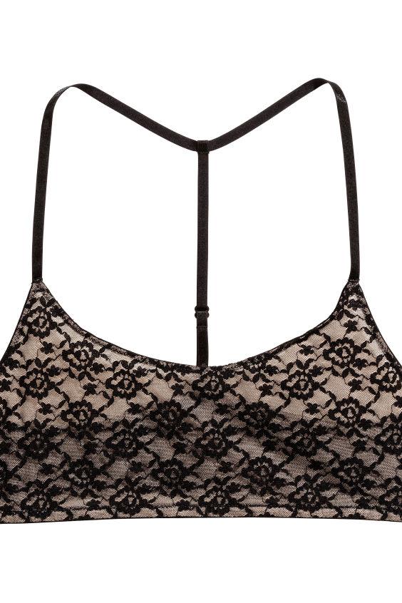 Topmoderne 2-pak bh-toppe - Sort/Chai - DAME | H&M DK VP-16
