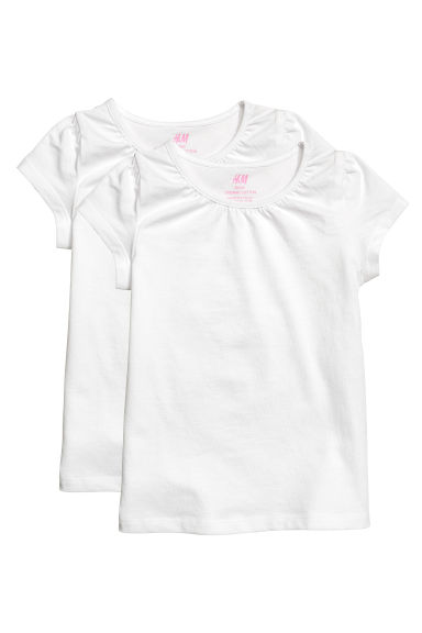 Lot de 2 tops en jersey - Blanc -  | H&M BE