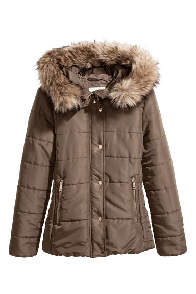 Padded jacket - Khaki green -  | H&M