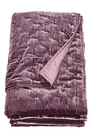 Velvet bedspread - Purple - Home All | H&M CN
