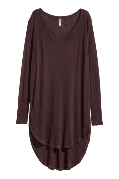 Long jersey top - Plum - Ladies | H&M CN