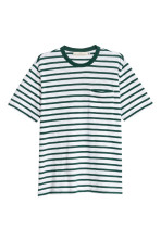 White/Green striped