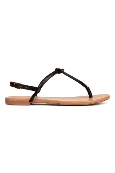 Toe-post sandals - Black - Ladies | H&M