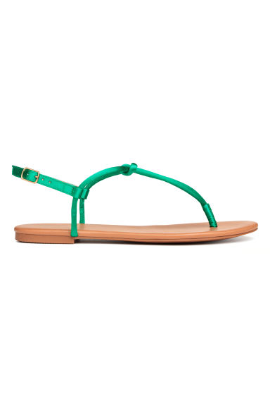 Toe-post sandals - Emerald green - Ladies | H&M GB