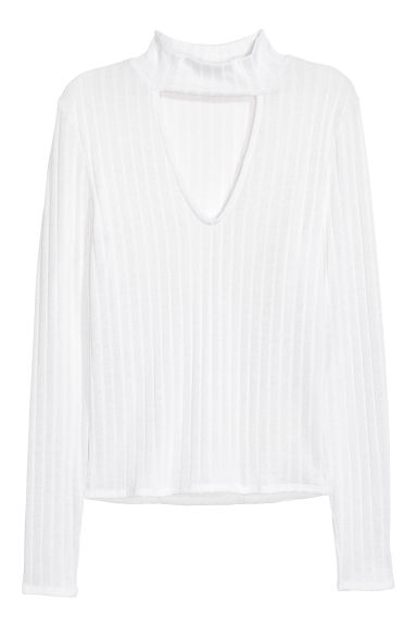 V-neck jumper - White -  | H&M