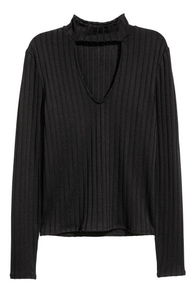 V-neck jumper - Black - Ladies | H&M IE