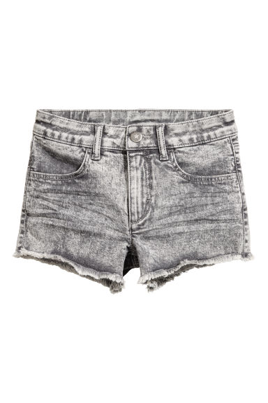 Generous fit Twill shorts - Grey washed out - Kids | H&M CN