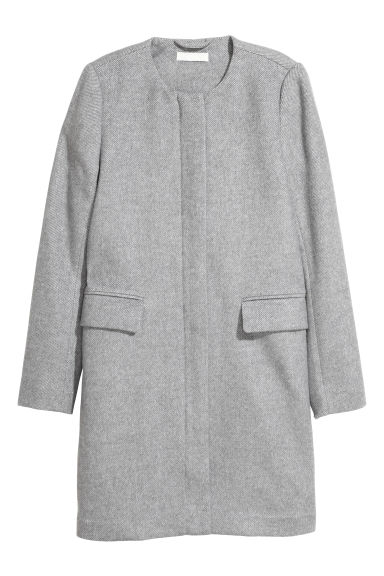 Wool-blend coat - Light grey -  | H&M IE