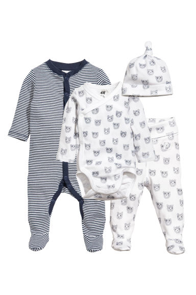 Set in jersey 4 pz - Blu scuro - BAMBINO | H&M IT