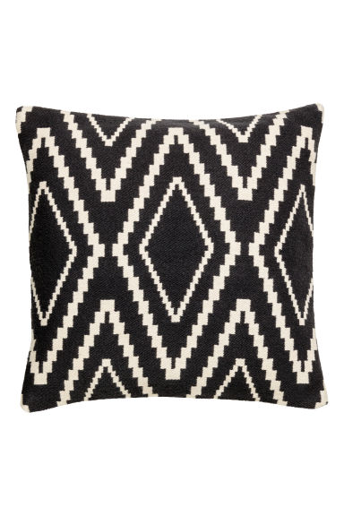 Housse de coussin - Gris anthracite/blanc - Home All | H&M CA