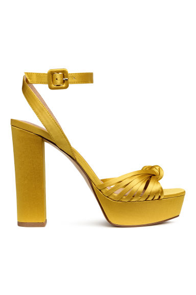 Platform sandals - Yellow - Ladies | H&M CN