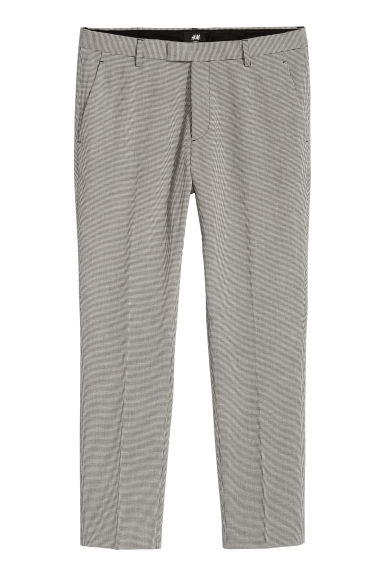 Suit trousers Slim fit - Black/Dogtooth - Men | H&M CN