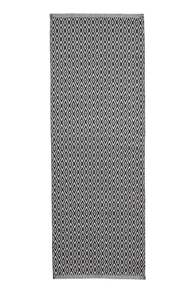 Tapis en coton - Blanc/gris anthracite - Home All | H&M FR