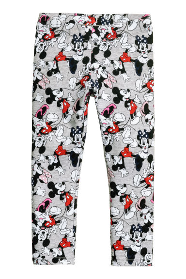 Jersey leggings - Grey/Mickey Mouse -  | H&M CN