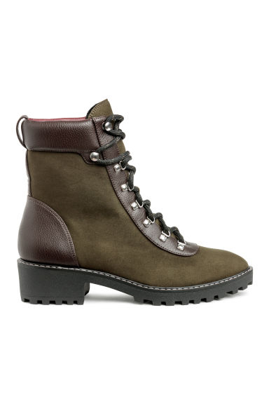 Warm-lined boots - Khaki green - Ladies | H&M CN