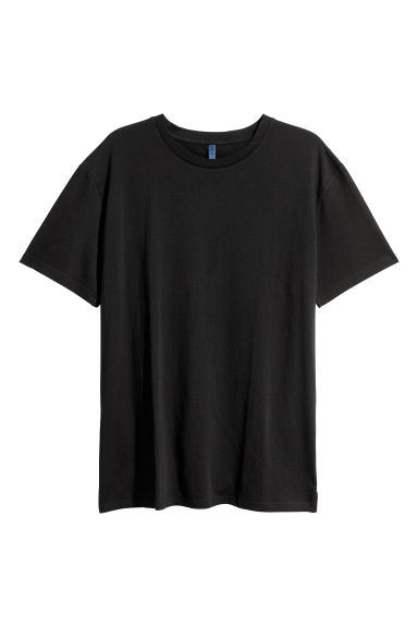 Long T-shirt - Black - Men | H&M CN