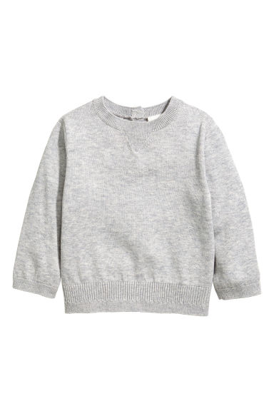 Silk-blend jumper - Grey -  | H&M CN