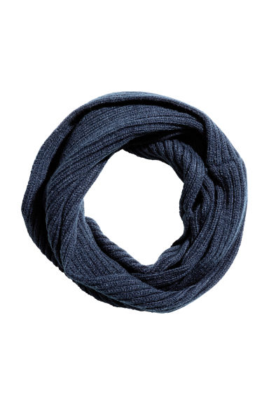 Twisted tube scarf - Dark blue -  | H&M