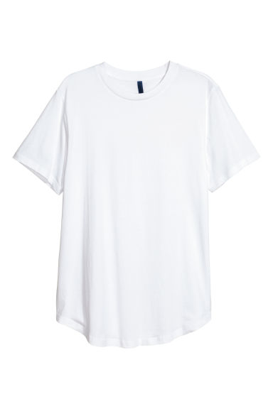 Cotton T-shirt - White -  | H&M IE