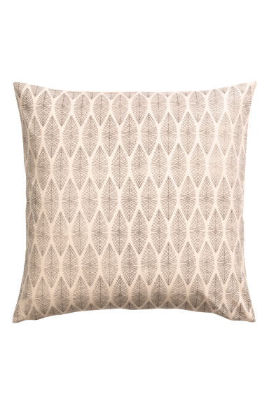 Patterned cushion cover - Natural white -  | H&M IE