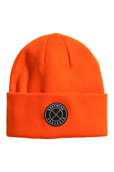 Fine-knit hat - Orange - Men | H&M CN