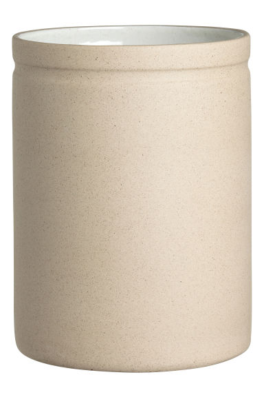 Stoneware jar - Natural white -  | H&M IE