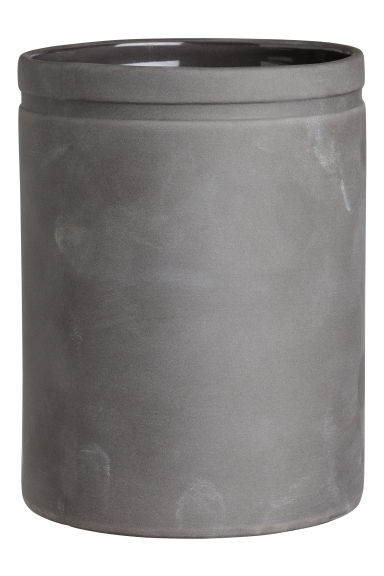 Stoneware jar - Dark gray - Home All | H&M CA