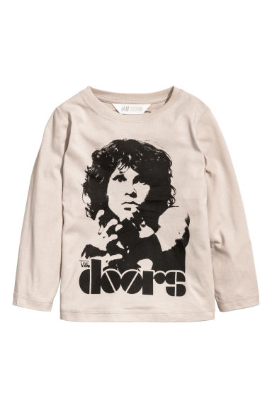 Printed jersey top - Light mole/The Doors -  | H&M